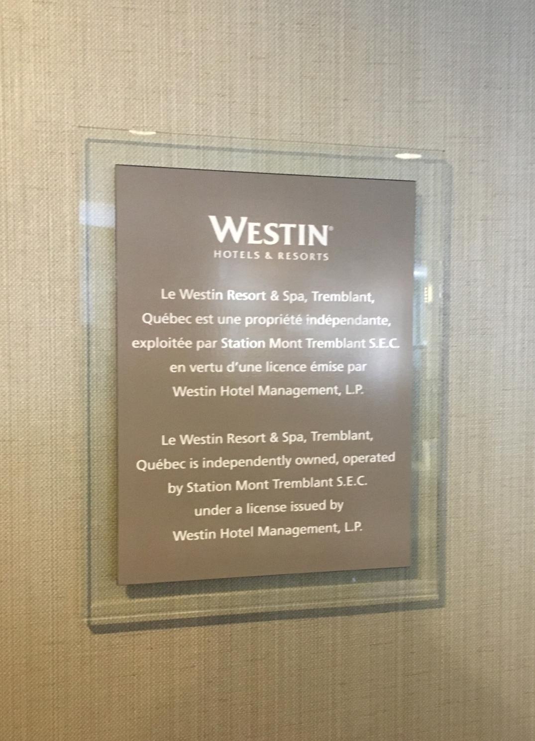Plaque Westin