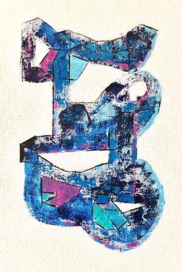 Léger - La serpiente de Piedra - 24x36 - 900$