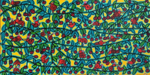 Chartrand - Bird jungle #188 - 18x36 - 650$