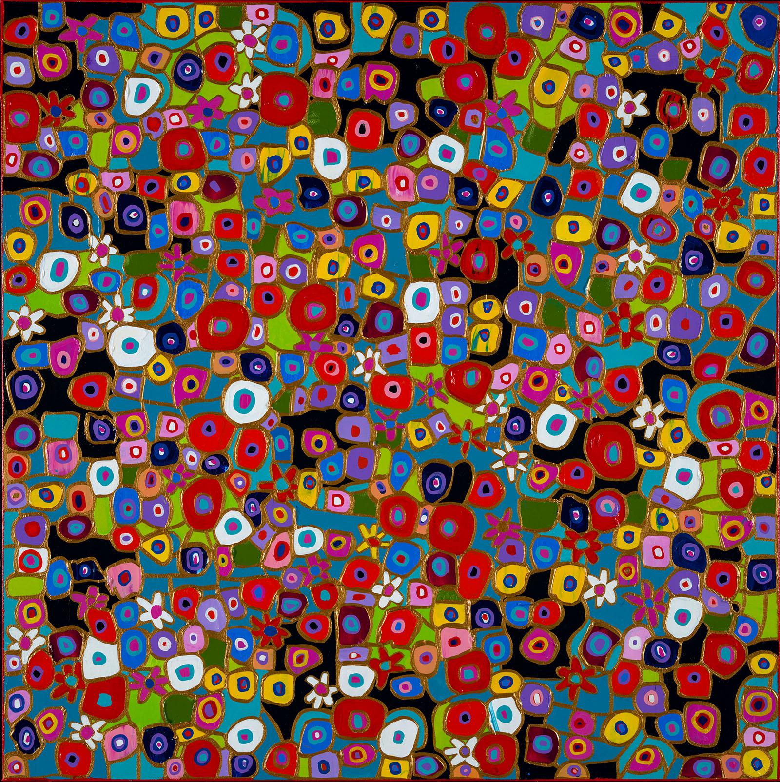 Chartrand - Fleurs en folie 350 - 30x30 - 900$