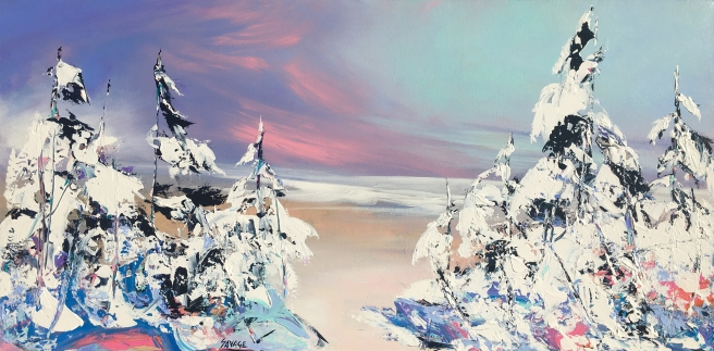Savage - Winter begins - 24x48 - 1150$